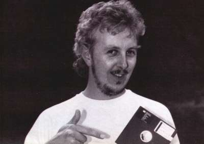 A picture of Martin with a disk!