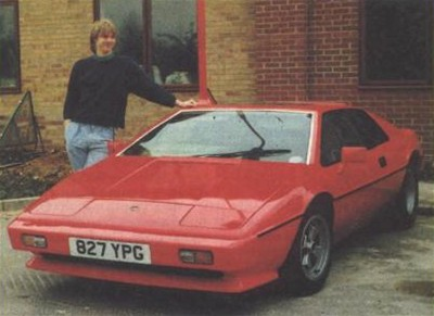 Photo of Chris and his Lotus Esprit